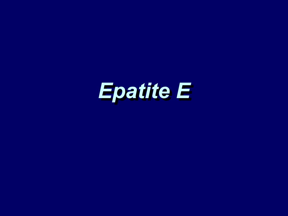Epatite E