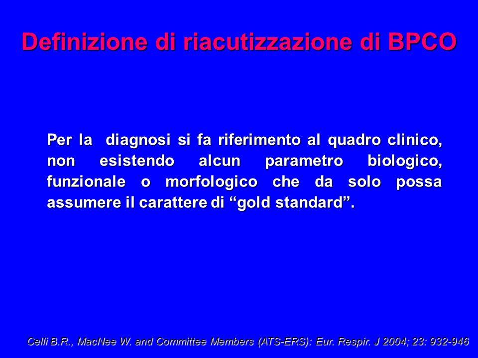 Per la diagnosi si fa riferimento al quadro clinico, non esistendo alcun parametro biologico, funzionale o morfologico che da solo possa assumere il carattere di gold standard.
