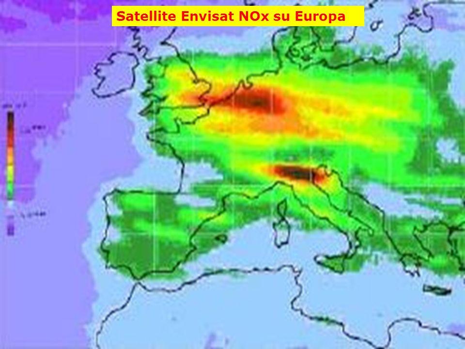 Satellite Envisat NOx su Europa