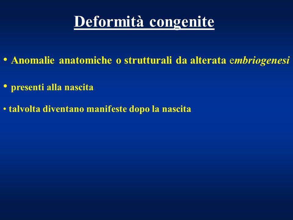CAUSE Alterazioni cromosomiche, 6% ( Sdr.Turner, Down) Fattori ambientali, 7% (Sdr.