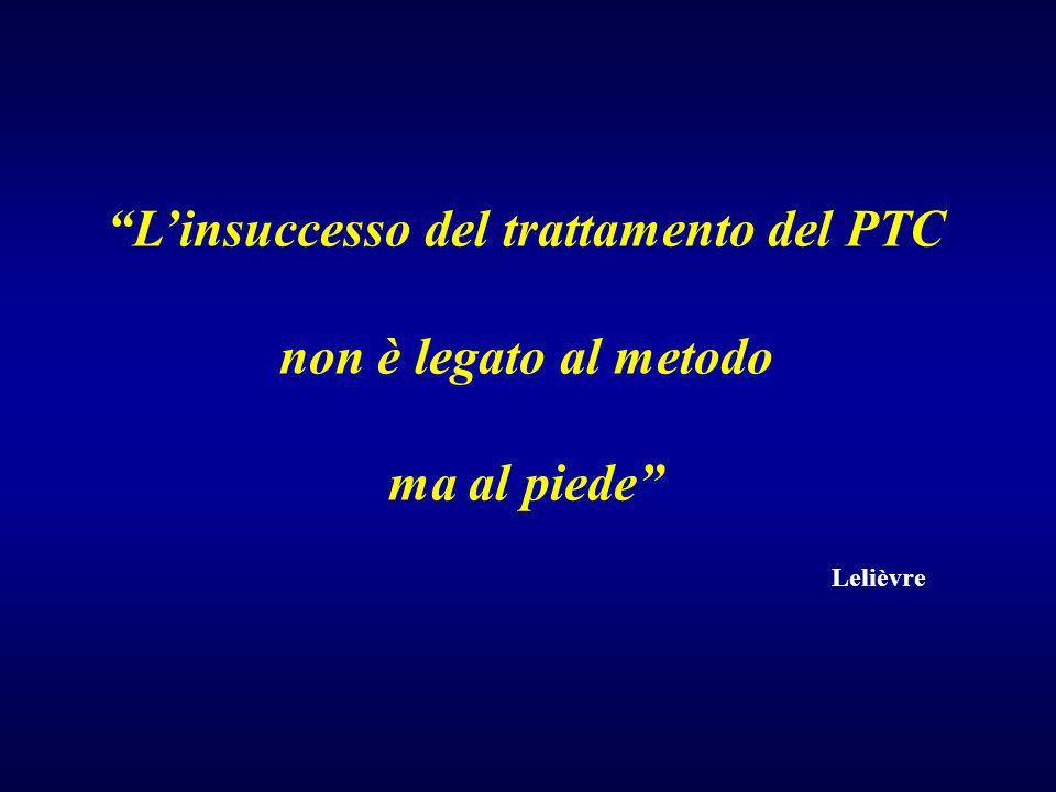 Linsuccesso del trattamento del PTC non è legato al metodo ma al piede Lelièvre