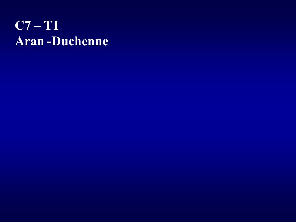 C7 – T1 Aran -Duchenne
