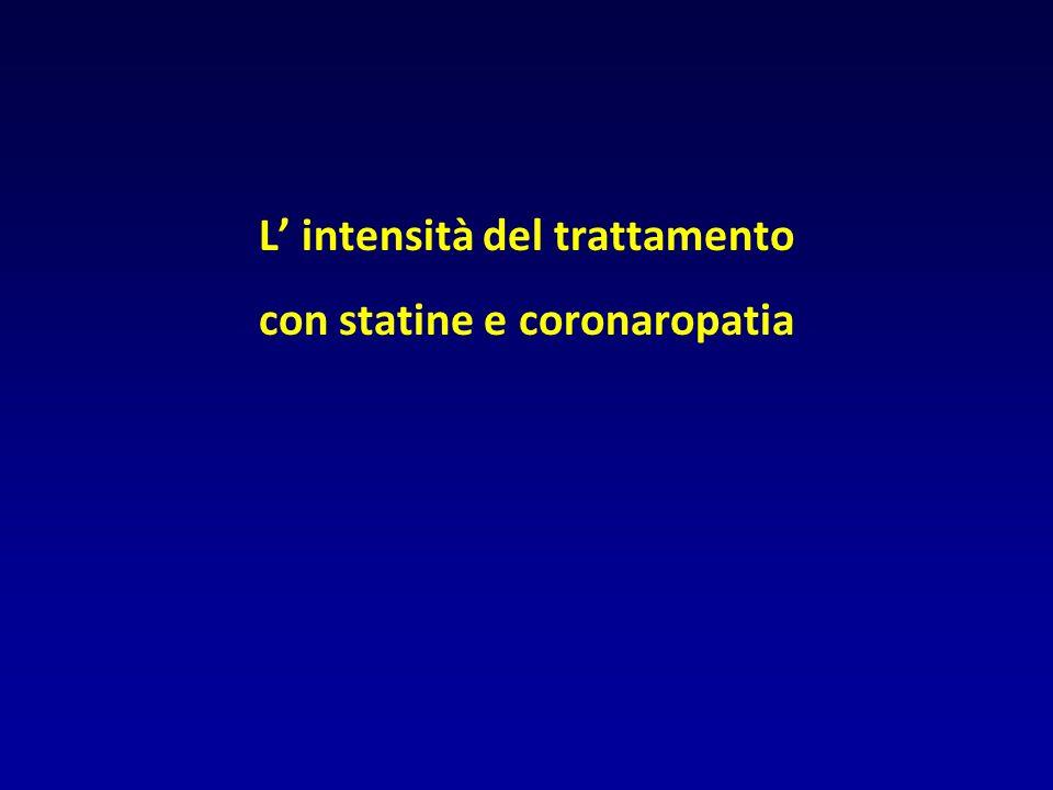 L intensità del trattamento con statine e coronaropatia