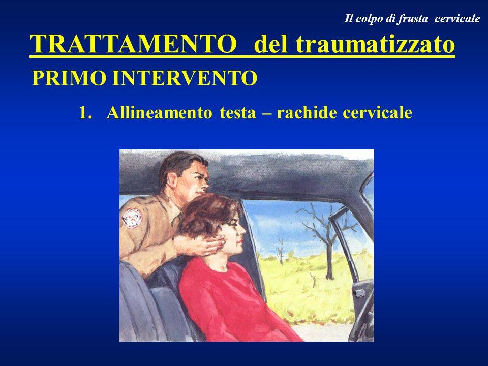 1. Allineamento testa – rachide cervicale PRIMO INTERVENTO Il colpo di frusta cervicale TRATTAMENTO del traumatizzato