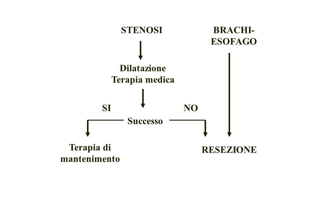 STENOSIBRACHI- ESOFAGO Dilatazione Terapia medica RESEZIONE Successo NOSI Terapia di mantenimento