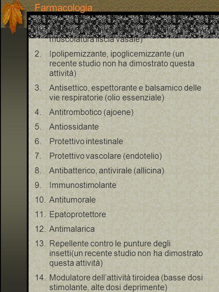 Componenti Triticina (polisaccaride simile allinulina) Mucillagine Saponine Polialcoli (mannitolo, inositolo) Olio essenziale (agropirene con attività antibiotica Acido silicico