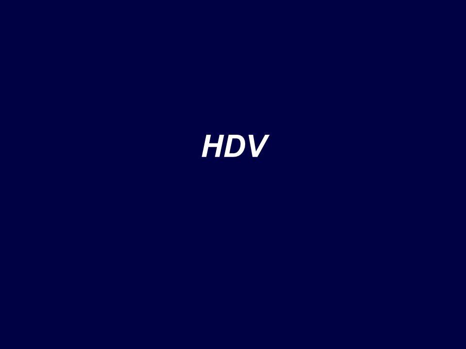 Antigene delta Lantigene delta fu scoperto inizialmente nei nuclei di epatociti infetti mediante immunofluorescenza (Rizzetto et al., 1977) Il virus raggiunge concentrazioni superiori a quelle di HBV nel siero (fino a 1012 particelle/ml)