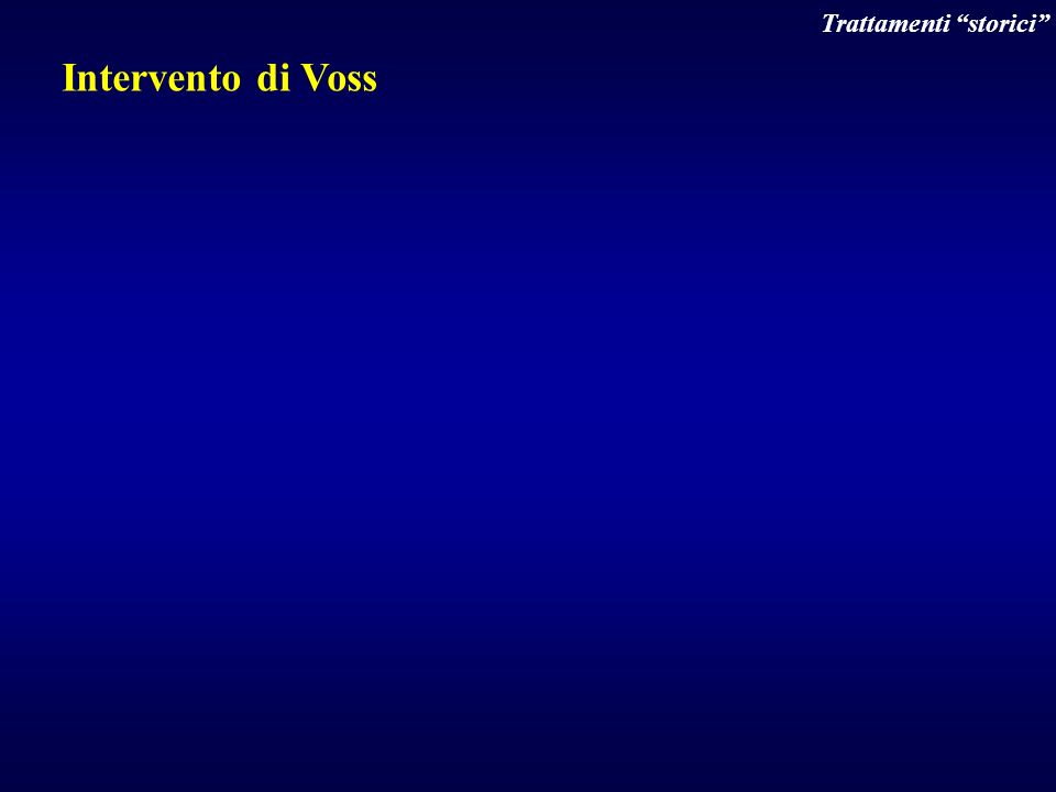 Intervento di Voss Trattamenti storici