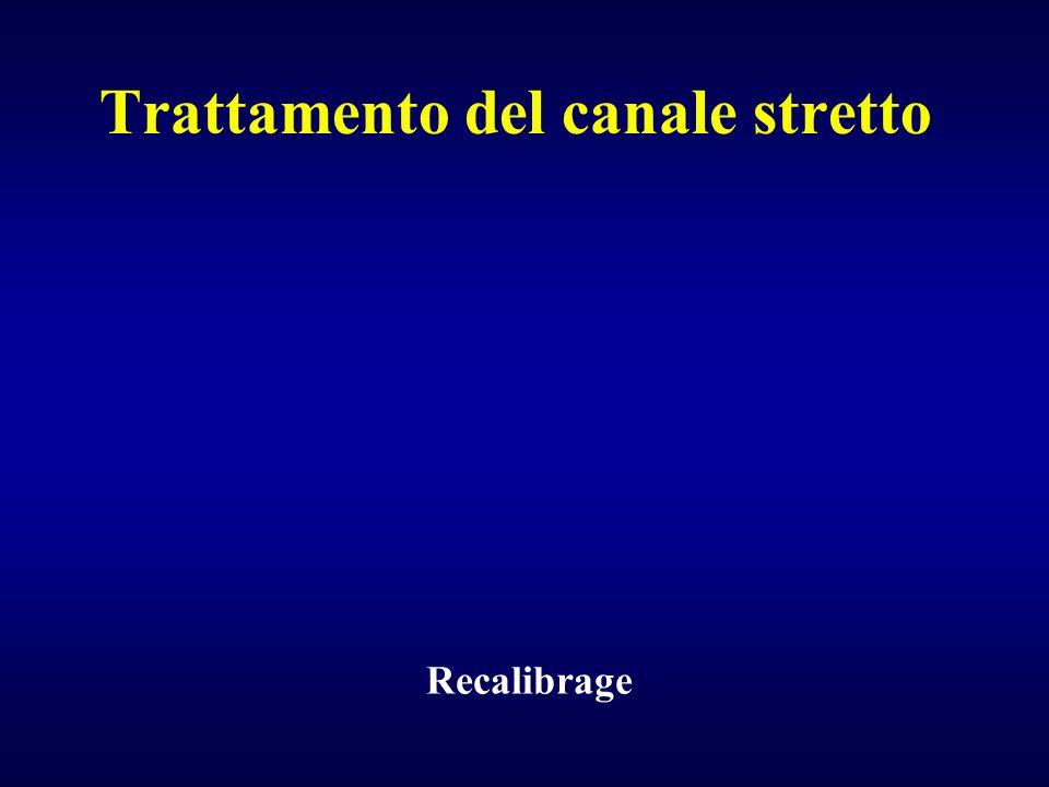 Recalibrage Trattamento del canale stretto