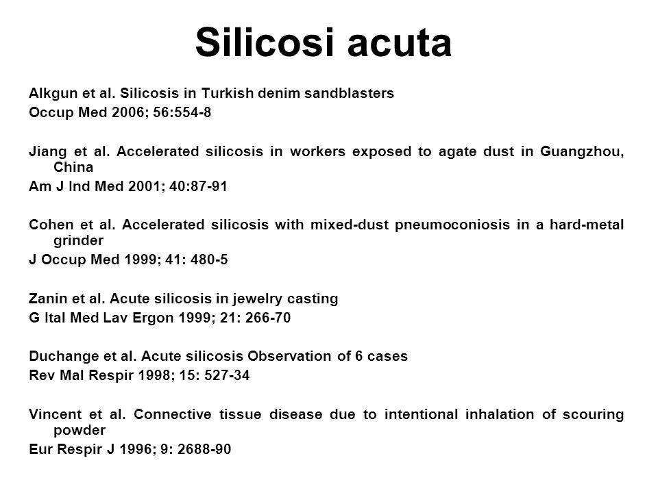 Silicosi acuta Alkgun et al.