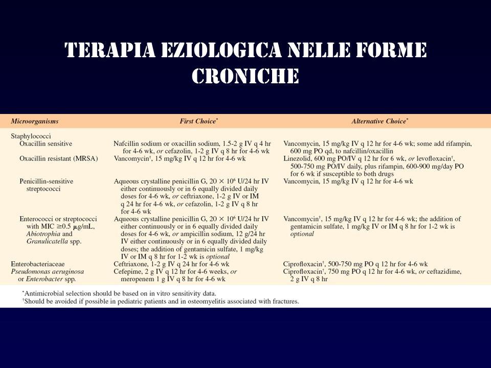 Terapia eziologica nelle forme croniche