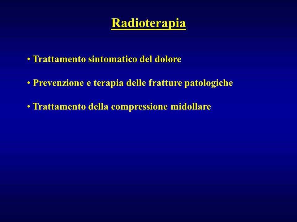 Radioterapia Trattamento sintomatico del dolore Prevenzione e terapia delle fratture patologiche Trattamento della compressione midollare