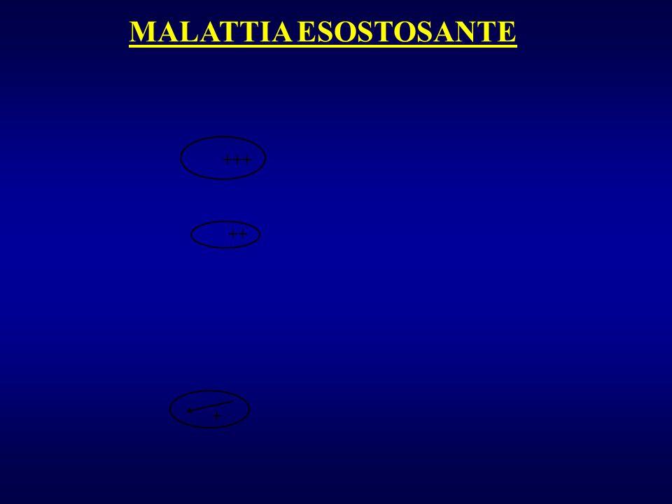 MALATTIA ESOSTOSANTE +++ ++ +