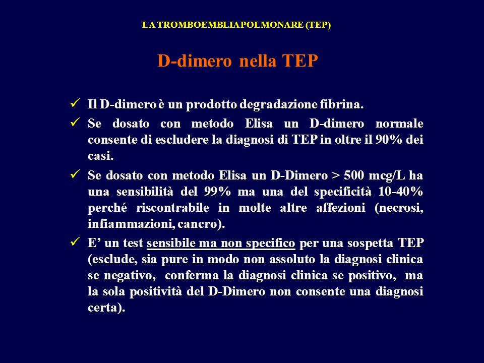 Il D-dimero è un prodotto degradazione fibrina. Il D-dimero è un prodotto degradazione fibrina. Se dosato con metodo Elisa un D-dimero normale consent