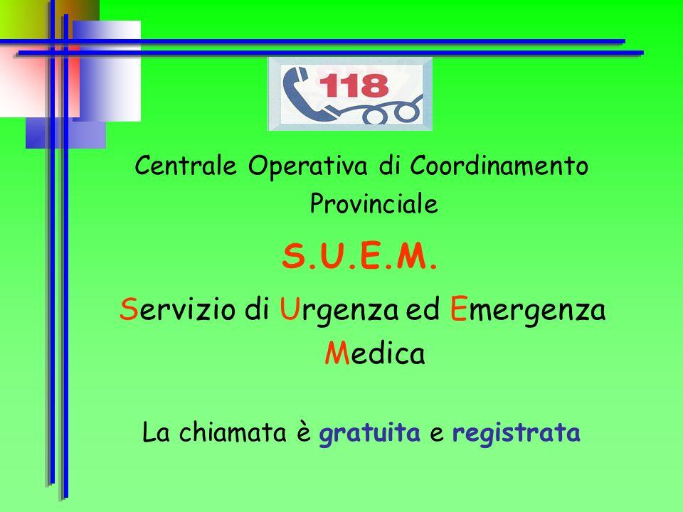 Regione Veneto 7 province 18.364 km 2 4.500.000 abitanti 7 centrali operative BL TV VE PD VI VR RO S.U.E.M. Servizio di Urgenza ed Emergenza Medica