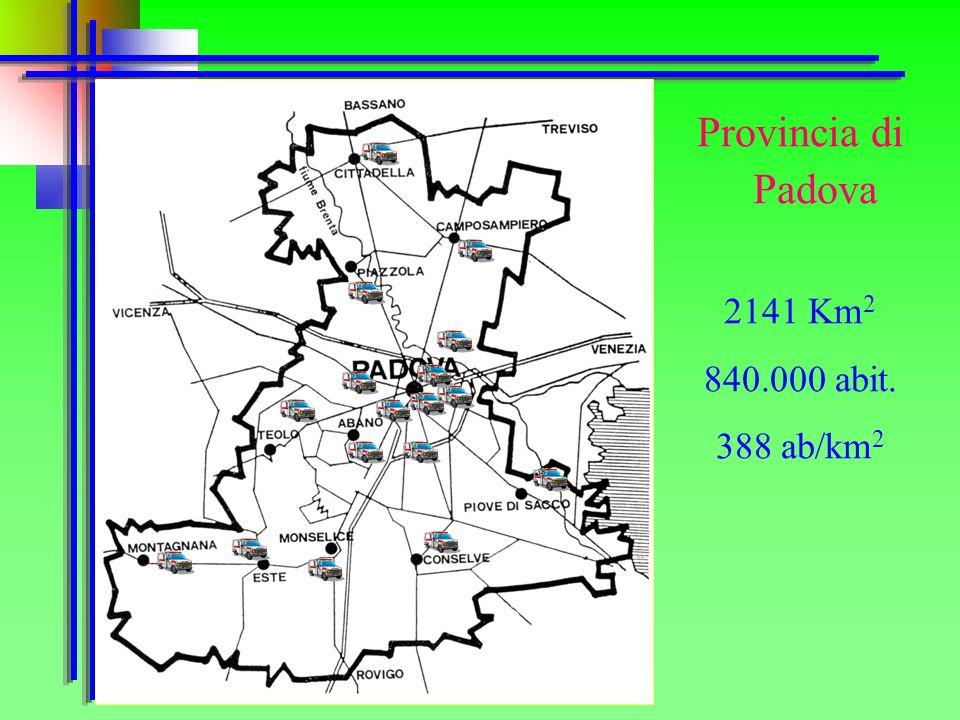 Provincia di Padova 2141 Km 2 840.000 abit. 388 ab/km 2