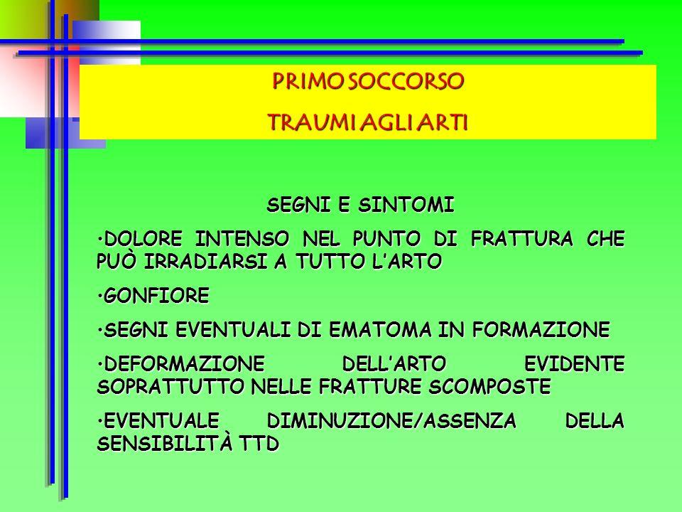 PRIMO SOCCORSO TRAUMI MUSCOLO-SCHELETRICI