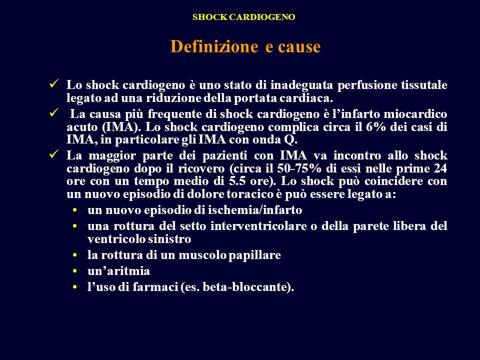 Lo shock cardiogeno è uno stato di inadeguata perfusione tissutale legato ad una riduzione della portata cardiaca. La causa più frequente di shock car