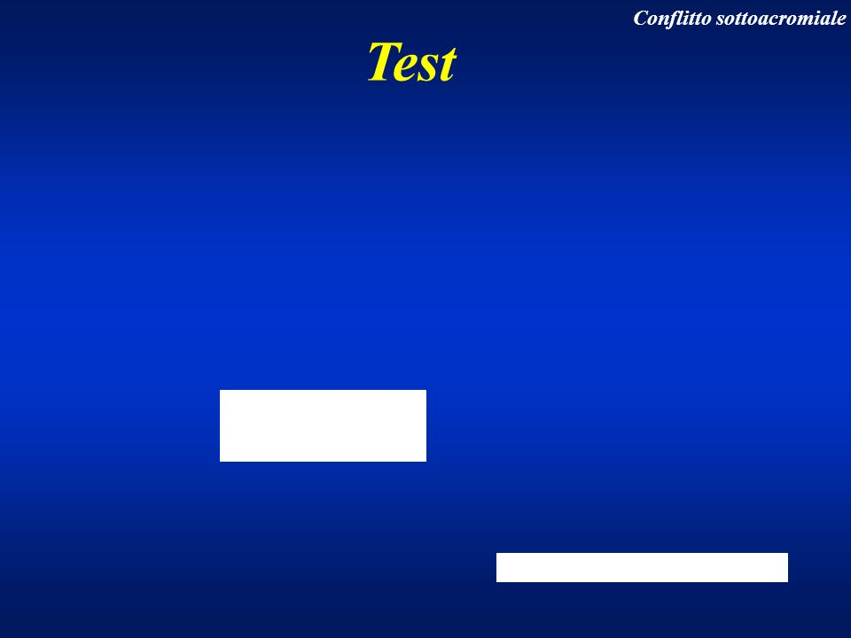Test Conflitto sottoacromiale