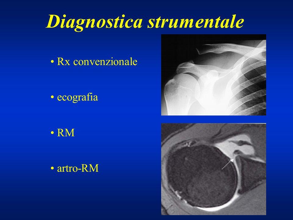Diagnostica strumentale Rx convenzionale ecografia RM artro-RM