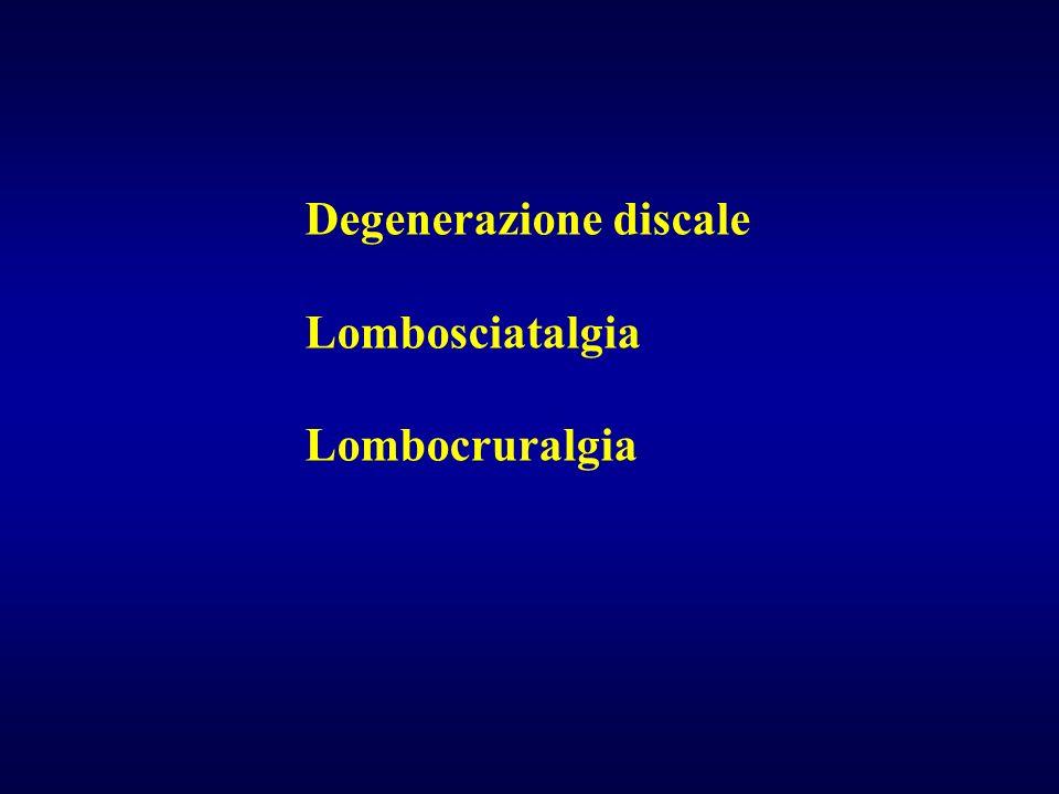 Degenerazione discale Lombosciatalgia Lombocruralgia