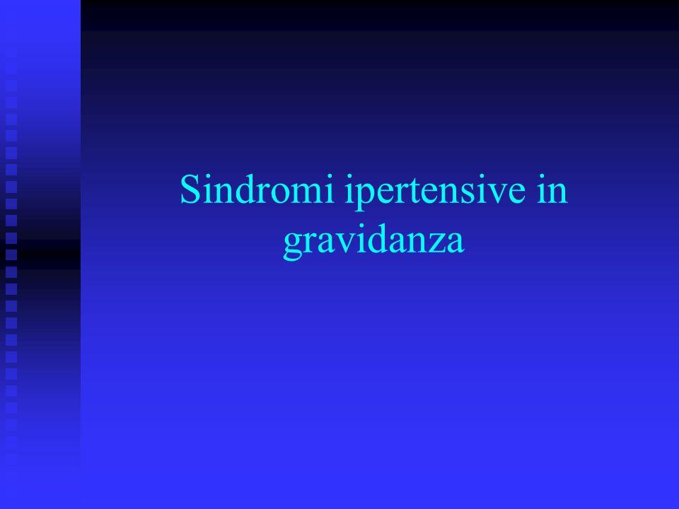 Sindromi ipertensive in gravidanza