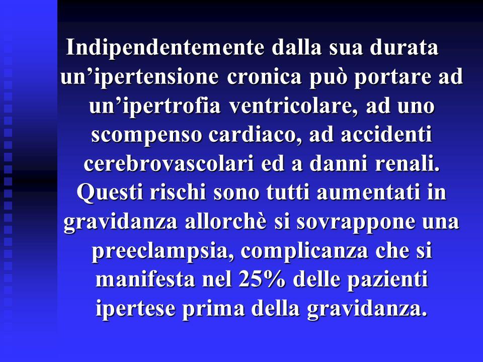 Indipendentemente dalla sua durata unipertensione cronica può portare ad unipertrofia ventricolare, ad uno scompenso cardiaco, ad accidenti cerebrovas