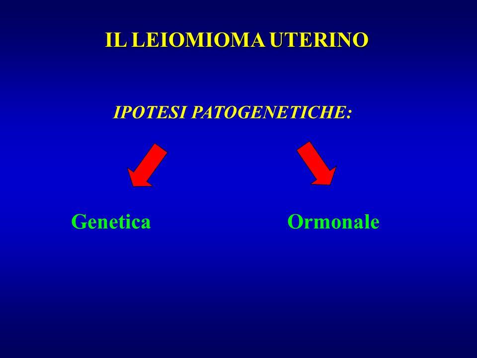 Genetica IL LEIOMIOMA UTERINO IPOTESI PATOGENETICHE: Ormonale