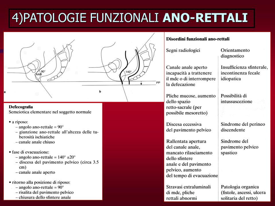 4)PATOLOGIE FUNZIONALI ANO-RETTALI