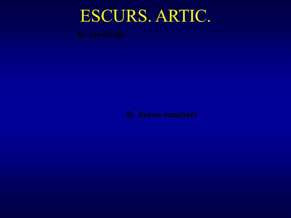 ESCURS. ARTIC. R. dorso-lombare R. cervicale