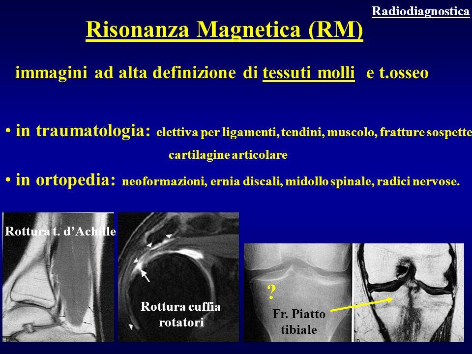 immagini ad alta definizione di tessuti molli e t.osseo in traumatologia: elettiva per ligamenti, tendini, muscolo, fratture sospette, cartilagine art
