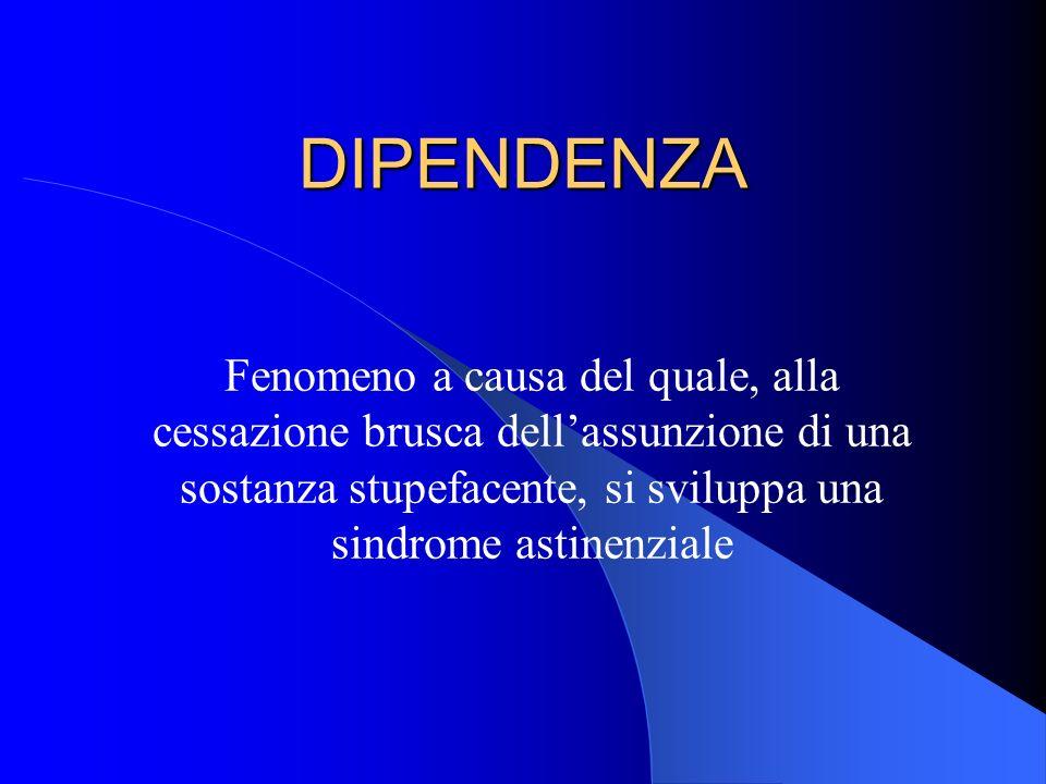 DIPENDENZA 2 PSICOLOGICA FISICA