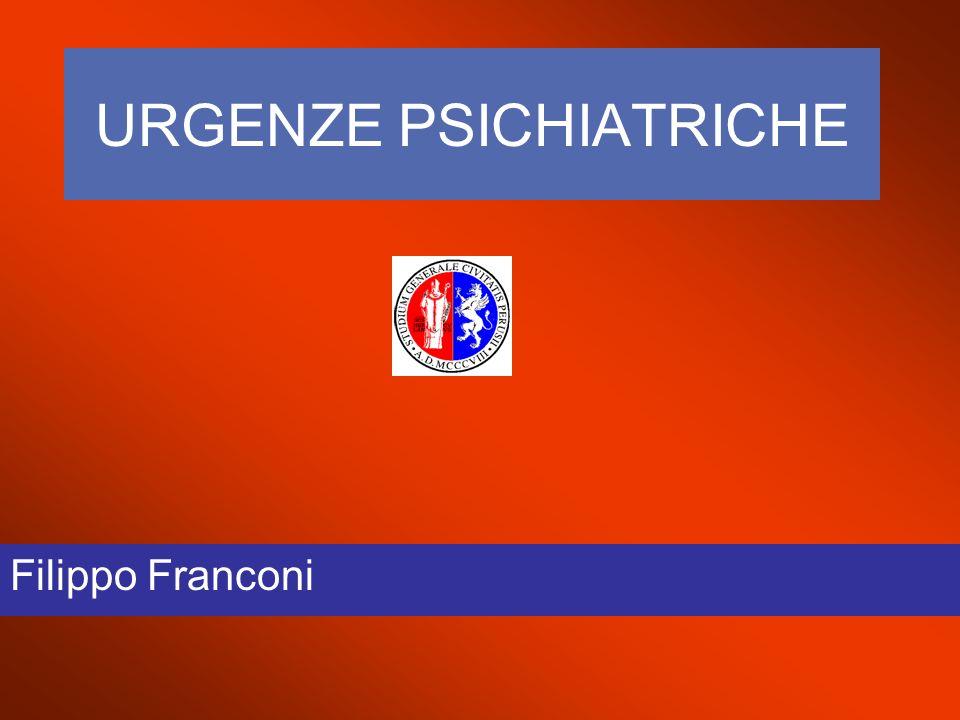 URGENZE PSICHIATRICHE Filippo Franconi