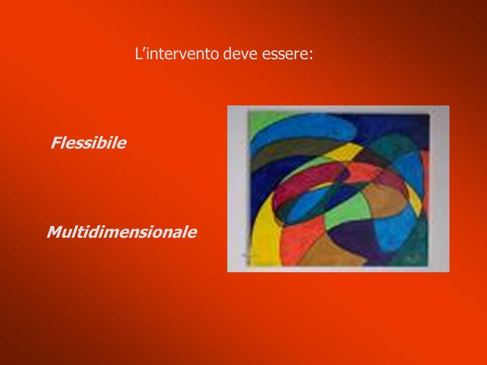 Lintervento deve essere: Flessibile Multidimensionale
