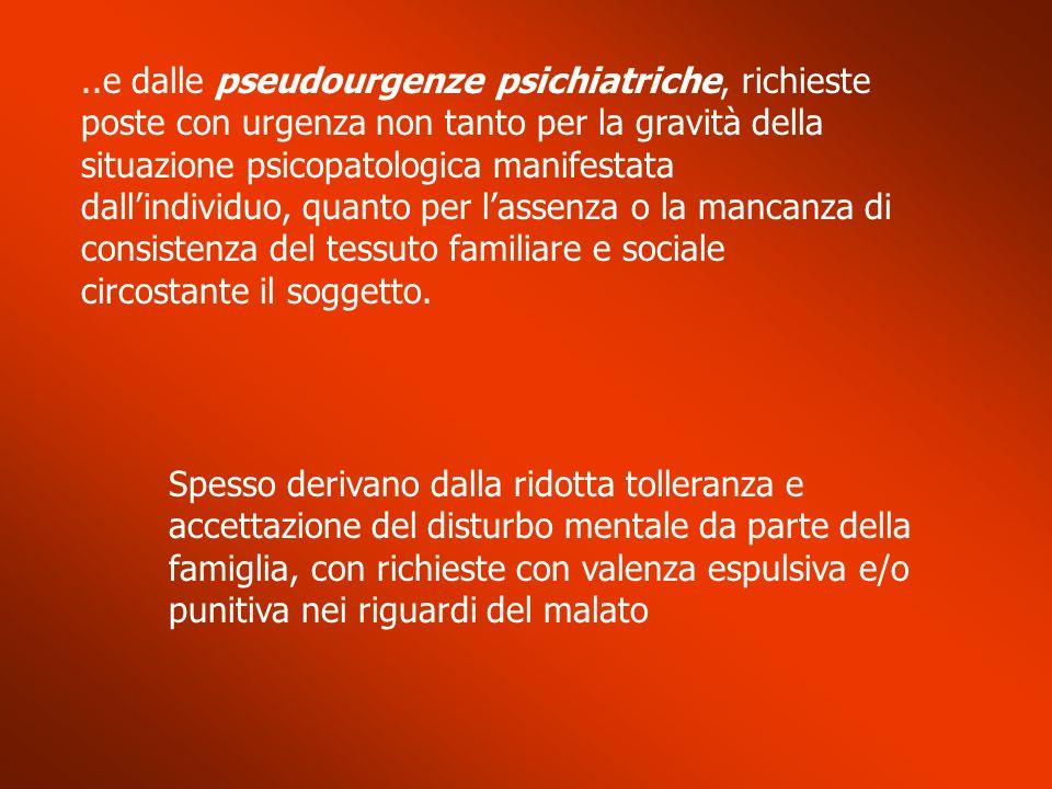 Crisi psicotica acuta (1) La persona si presenta con sintomi quali..