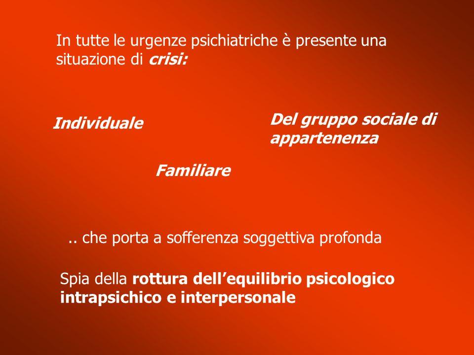 Crisi psicotica acuta (3) Vanno raccolte con attenzione le informazioni riguardanti..