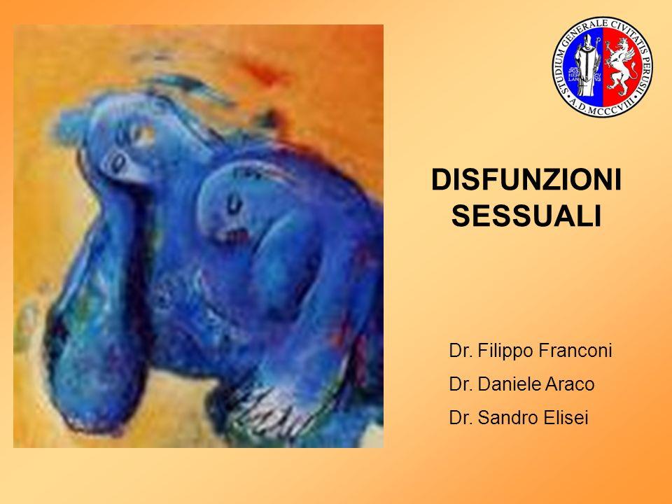 DISFUNZIONI SESSUALI Dr. Filippo Franconi Dr. Daniele Araco Dr. Sandro Elisei