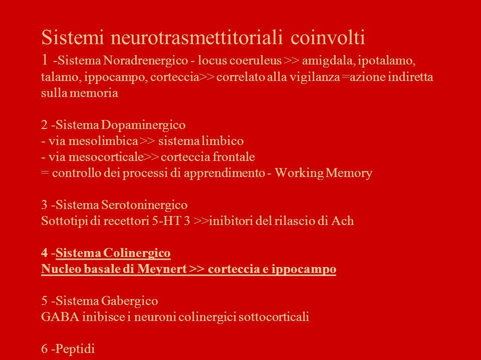 Psicopatologia della Memoria Disturbi Quantitativi a - ipermnesia = aumento delle capacità mnesiche b - ipomnesia = indebolimento delle capacità mnesiche c - amnesia = compromissione selettiva della MLT in rapporto ad un evento patologico –anterograda –retrograda Estensione del deficit