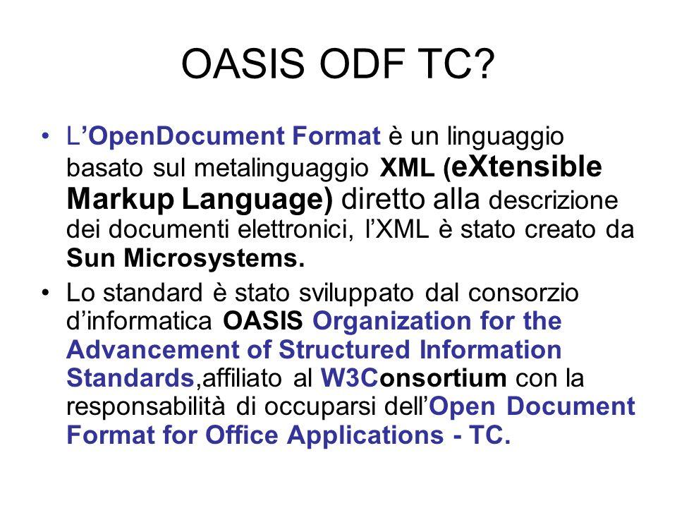 Stato dellarte LODF è sostenuto da Open Document Format Alliance lobby composta da IBM, Sun Microsystems e Software & Information Industry Association (SIIA).