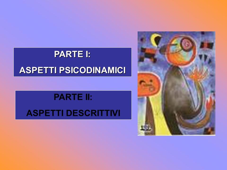 PARTE I: ASPETTI PSICODINAMICI PARTE II: ASPETTI DESCRITTIVI