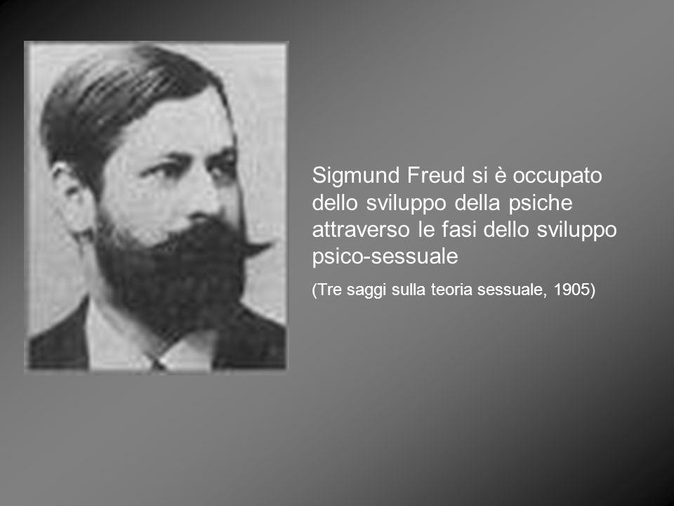 Sigmund Freud si è occupato dello sviluppo della psiche attraverso le fasi dello sviluppo psico-sessuale (Tre saggi sulla teoria sessuale, 1905)