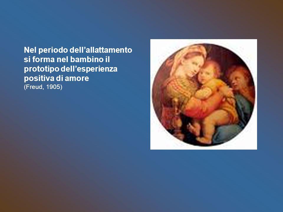 Nel periodo dellallattamento si forma nel bambino il prototipo dellesperienza positiva di amore (Freud, 1905)
