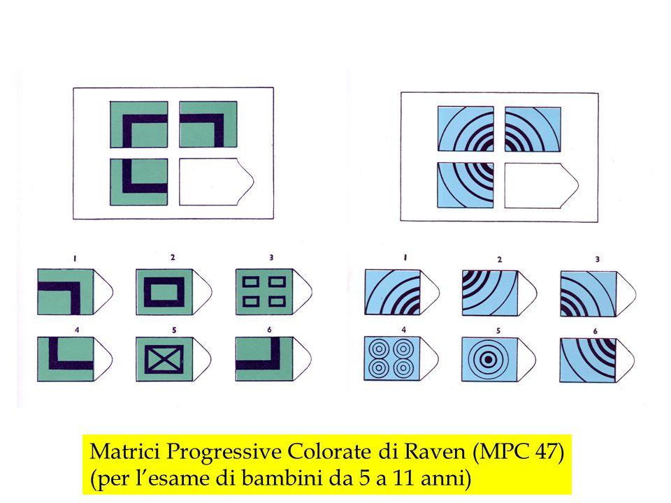 Matrici Progressive Colorate di Raven (MPC 47) (per lesame di bambini da 5 a 11 anni)