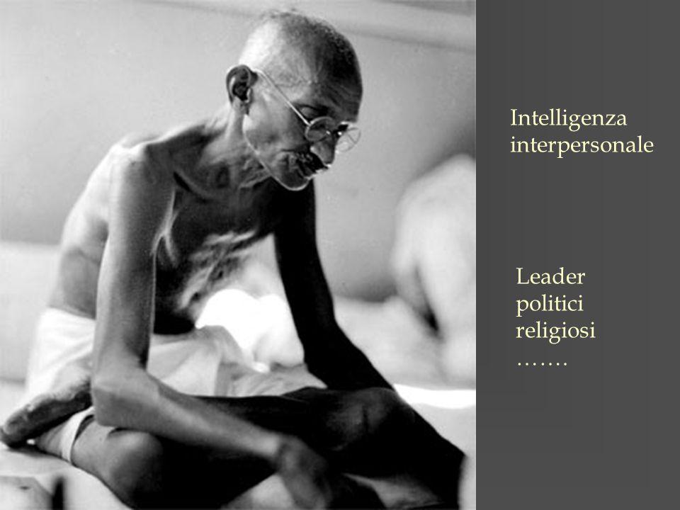 Intelligenza interpersonale Leader politici religiosi …….