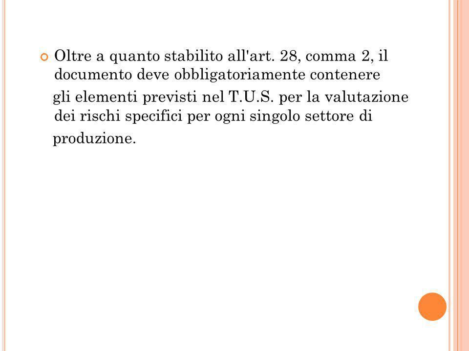 L art.17, comma 1, lett. a) del T.U.S.