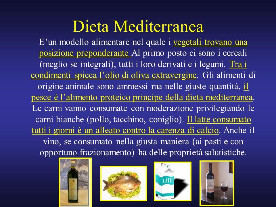 Dieta Mediterranea Eun modello alimentare nel quale i vegetali trovano una posizione preponderante Al primo posto ci sono i cereali (meglio se integra
