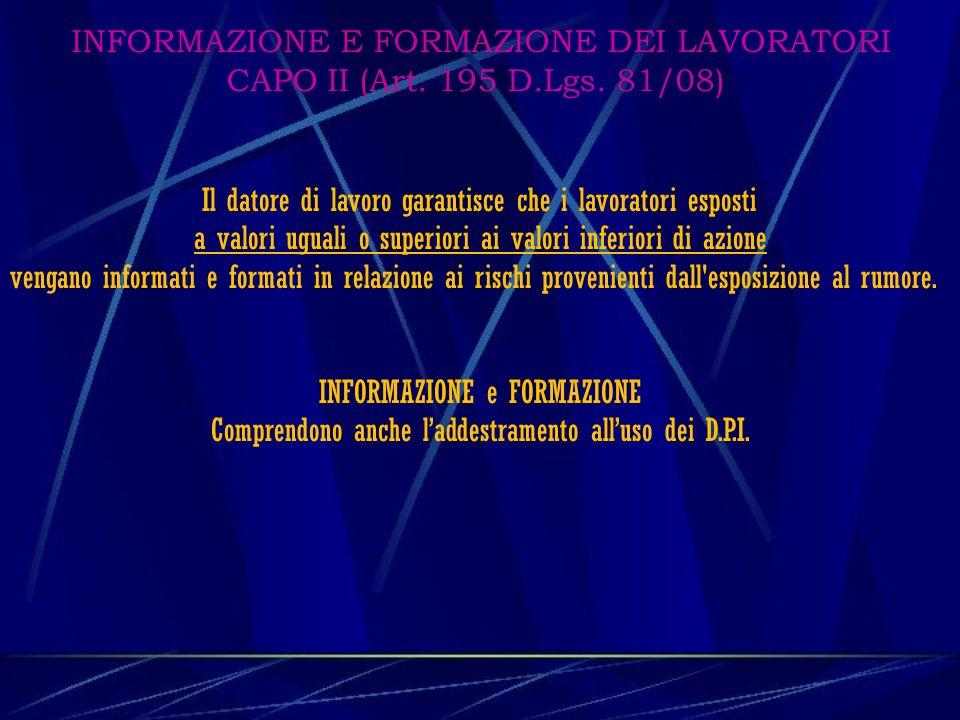 USO DEI DISPOSITIVI DI PROTEZIONE INDIVIDUALE CAPO II (Art.