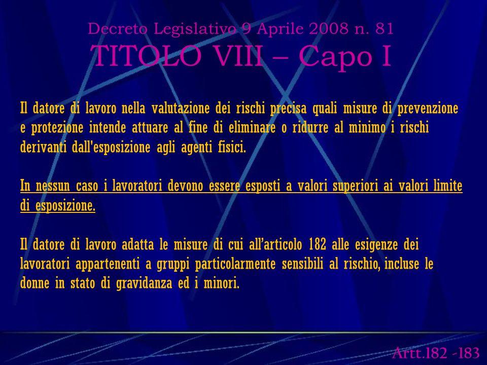 Decreto Legislativo 9 Aprile 2008 n.