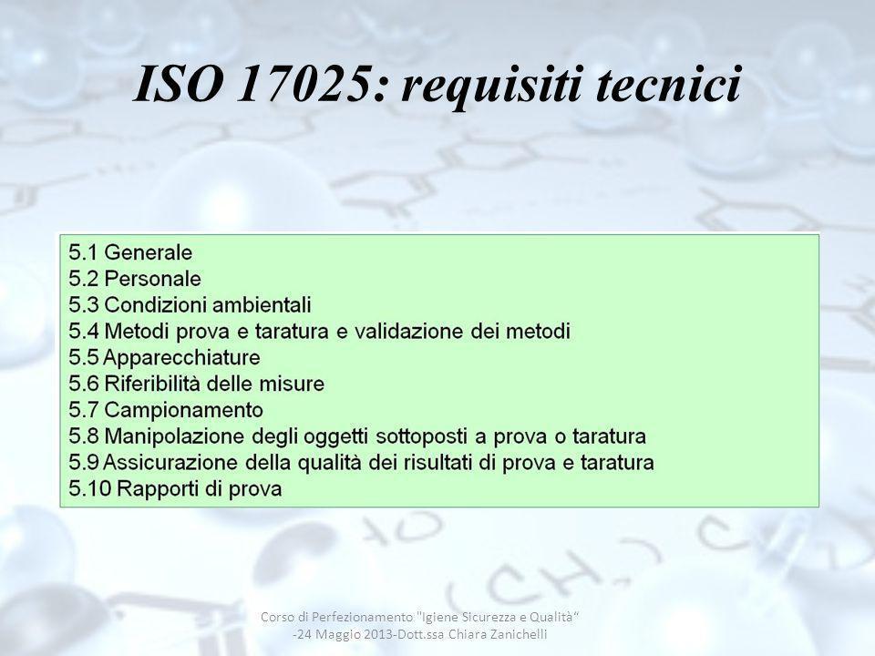 ISO 17025: requisiti tecnici Corso di Perfezionamento