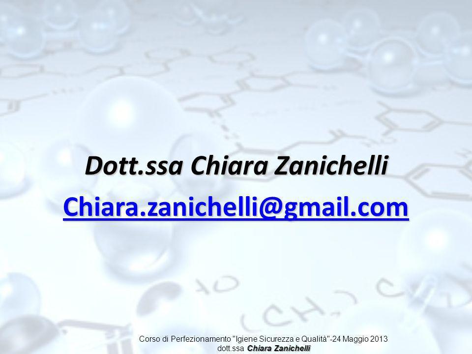 Dott.ssa Chiara Zanichelli Chiara.zanichelli@gmail.com Corso di Perfezionamento